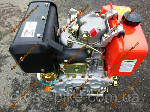 Дизельный Двигатель ЗУБР 186FЕ 9 л/с, электро запуск, охлаждение воздушное