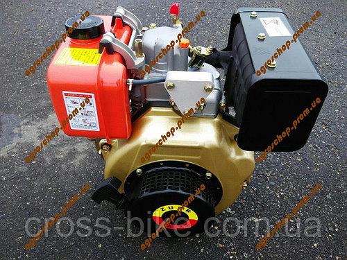 Двигатель дизельный 178F 6 л.с ZUBR с электростартером, воздушное охлаждение