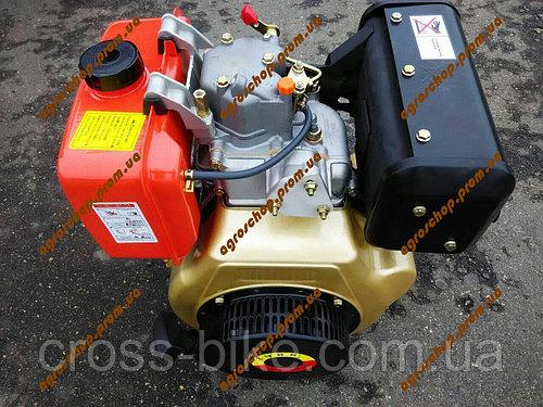 Дизельный двигатель 186F ручной стартер (9 л.с) ZUBR