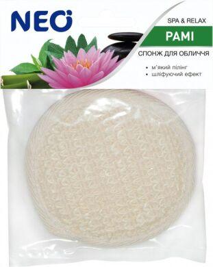 NEO мочалка спонж для лица банная с раме (крапива)