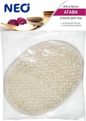 NEO мочалка спонж для тела банная из агавы (сизаль)