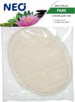 NEO мочалка спонж для тела банная с раме (крапива)