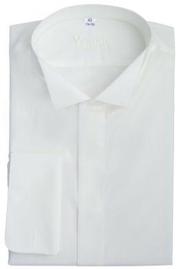 Рубашка мужская классическая VK-201 SLIM FIT (кремовый)