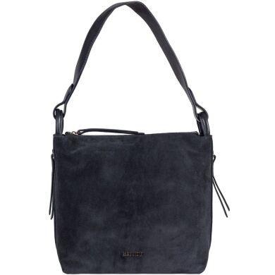 Женская замшевая сумка Mattioli 057-20C пепельно-синяя