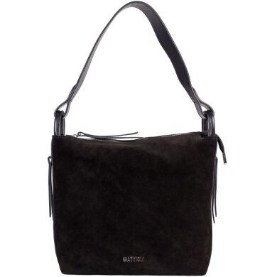 Женская замшевая сумка Mattioli 057-20C черная