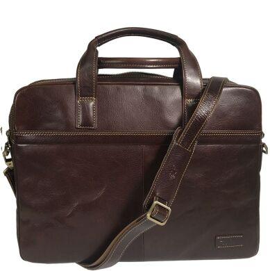 Мужская сумка-портфель Tony Perotti Tuscania 9954 moro (коричневая)