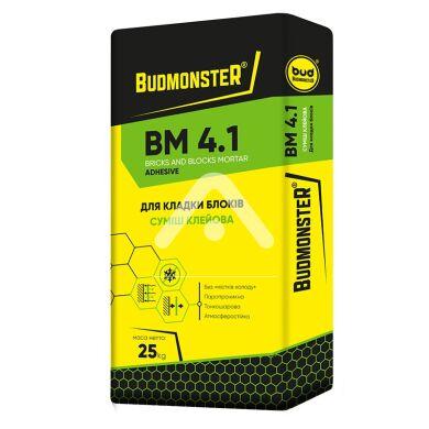 Кладочная смесь для блоков BudmonsteR BM 4.1, 25 кг BudMonster