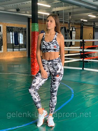 Комплект костюм спортивный компрессионный женский Reebok Рибок (S,L)