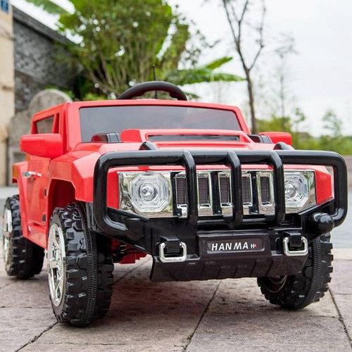 Детский электромобиль джип Hummer T-7836 Красный