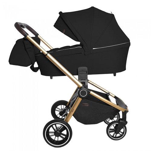 Коляска универсальная для детей с рождения CARRELLO Epica CRL-8510 (2in1) Space Black +дождевик