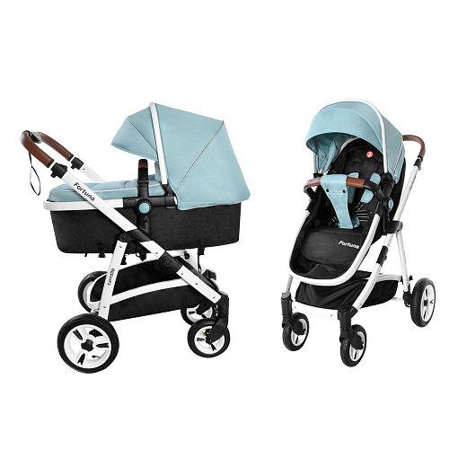 Коляска универсальная для детей с рождения CARRELLO Fortuna CRL-9001/1 Hawaii Blue 2в1 c матрасом