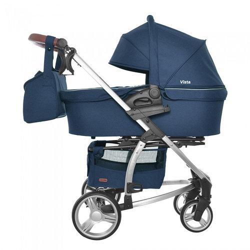 Коляска универсальная 2 в 1 для новорожденных CARRELLO Vista CRL-6501 Denim Blue