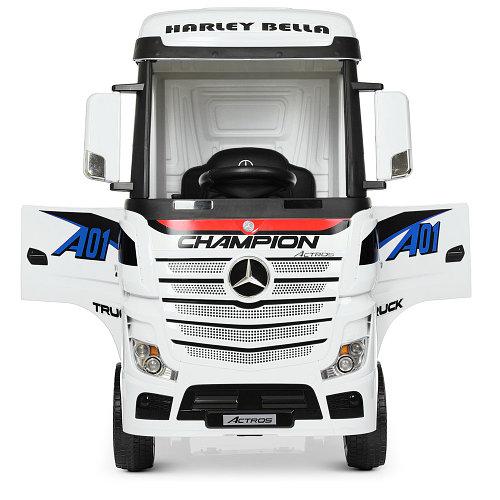 Детский электромобиль-фура- грузовик Mercedes-Benz Actros M 4208EBLR-1 Белый