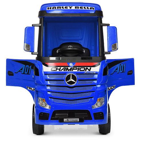 Детский электромобиль-фура- грузовик Mercedes-Benz Actros M 4208EBLR-4 Синий