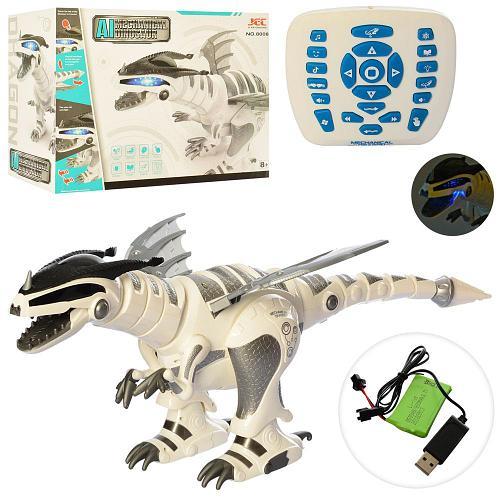 Радиоуправляемый интерактивный Fire Dracon робот-динозавр. 66 см. Свет. Звук. Двигается. 8008