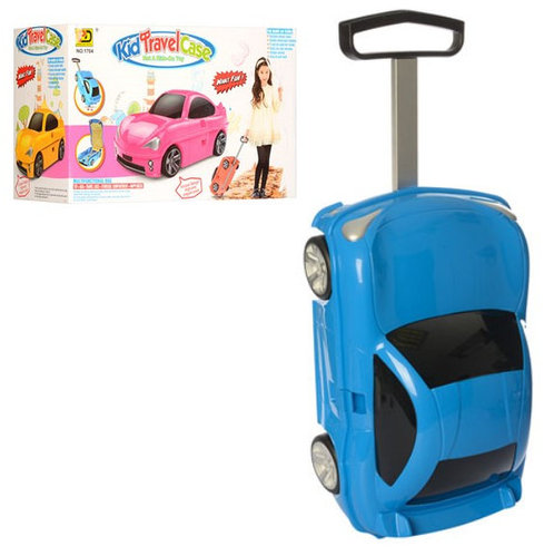 Детский чемодан-машина ГОЛУБОЙ арт. 1211