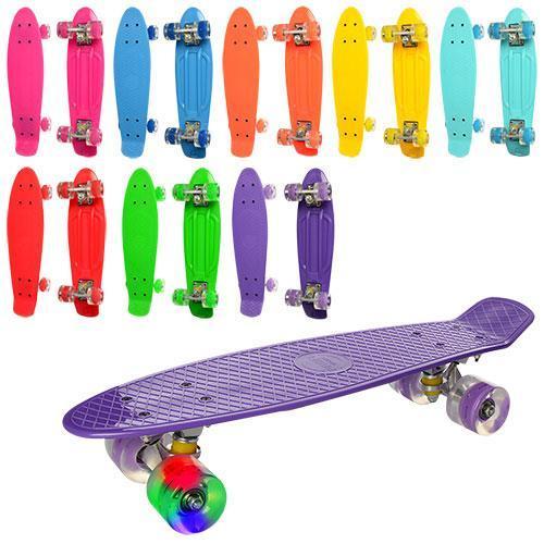 Скейт (пенни борд) Penny board (переднее колесо - свет) БИРЮЗОВЫЙ арт. 0848-5