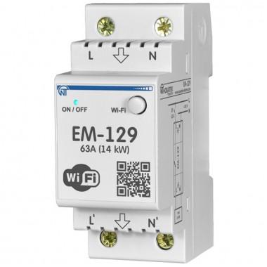 Wi-Fi счетчик электроэнергии с функцией защиты и управления Новатек-Электро ЕМ-129
