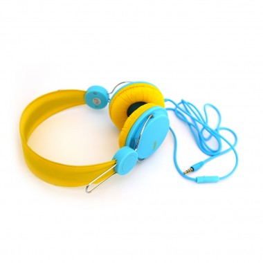 Наушники HAVIT HV-H2198D с микрофоном желто-голубые