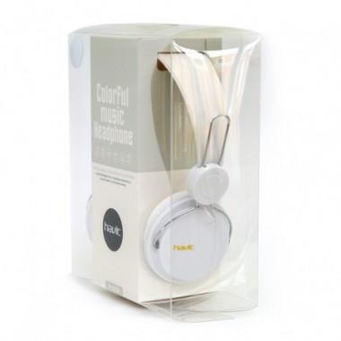 Наушники HAVIT HV-H2198D с микрофоном белые