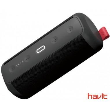 Водонепроницаемая ударопрочная портативная колонка HAVIT HAKII CHEER black/red с NFC, подключением TWS и функцией Power Bank (25369)