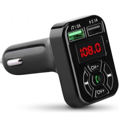 FM-трансмиттер HAVIT HV-FM807BT Bluetooth 5.0, Hands Free, MicroSD, USB 3.1А, AUX