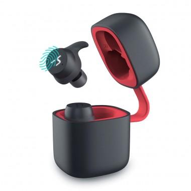 Беспроводные наушники HAVIT HV-G1 PRO Bluetooth с микрофоном и беспроводной зарядкой, черно-красные (25120)