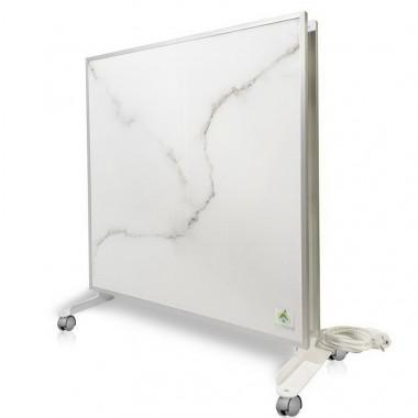 Биоконвектор - керамический обогреватель Ecoteplo DUO 1000 WМ на 20 кв.м. с трехсторонним обогревом, терморегулятором и ножками в комплекте, белый мрамор