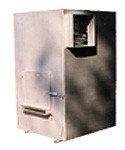 Печь твердотопливная ПОТ-50 с центробежным вентилятором, воздуховодами и коробами