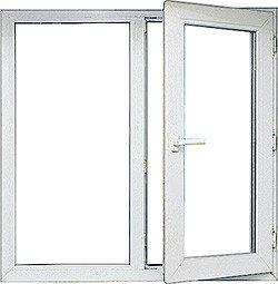 Двухстворчатое окно Decco 82 1,2м * 1,4 м двухкамерные стеклопакеты