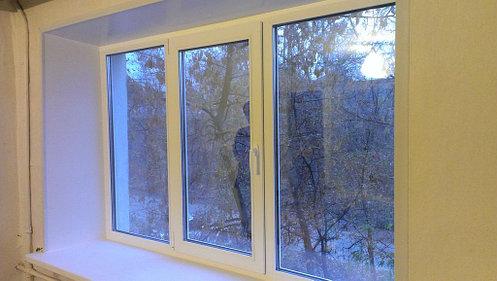 Трехстворчатое окно KBE 70 2м*1,4м с двухкамерными стеклопакетами