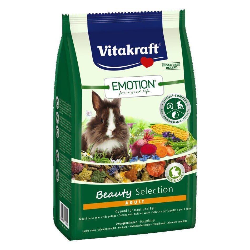Смешанный корм для кроликов Vitakraft «Emotion Beauty Selection» (для кожи и шерсти)
