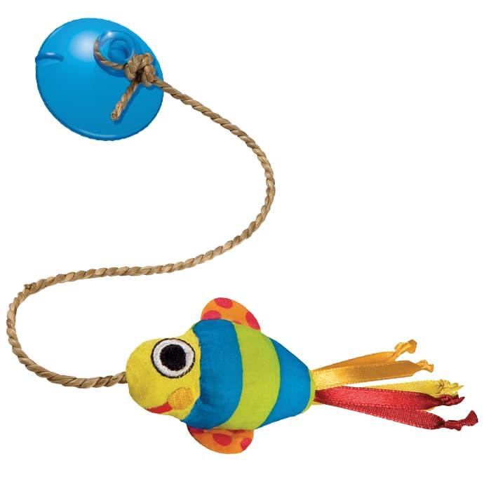 Игрушка для кошек Petstages Dangling Fish Хрустящая рыбка на присоске