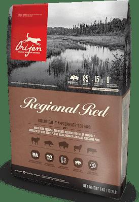 Корм беззерновой с телятиной ORIJEN Regional Red DOG для собак всех пород