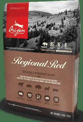 Корм беззерновой ORIJEN Regional Red Cat для котов всех пород
