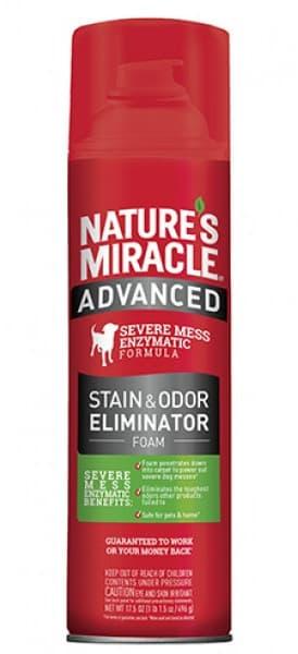 Жидкий устранитель пятен и запахов с усиленной формулой для собак аэрозоль-пена 8in1 518 мл