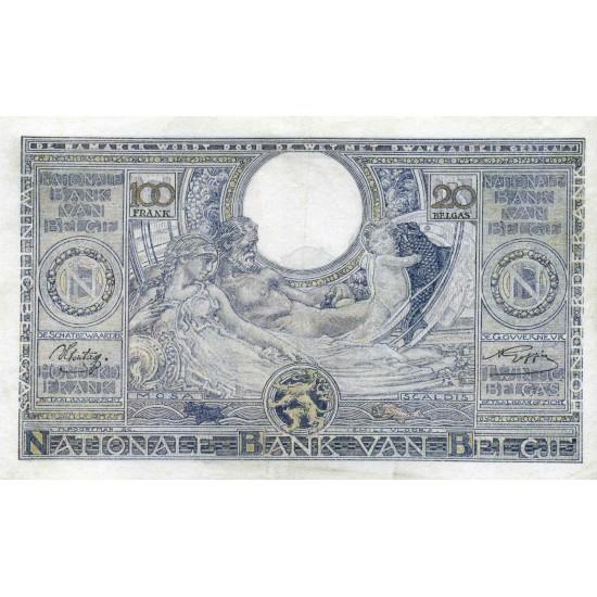 100 франков Бельгия, 1941 год