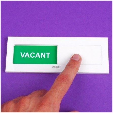 Acrylic Plexiglas Sign OCCUPIED - VACANT