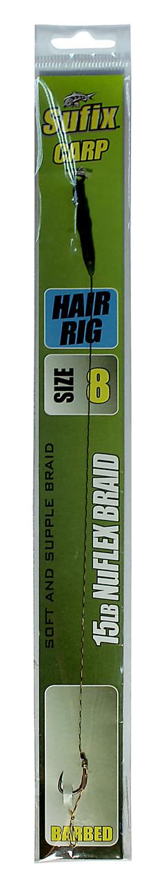 Карповый поводок Sufix Hair Rig материал NuFLEX Braid 15lb крючок №8