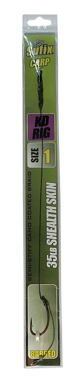 Карповый поводок Sufix KD Rig материал Shealth Skin 35lb крючок №1