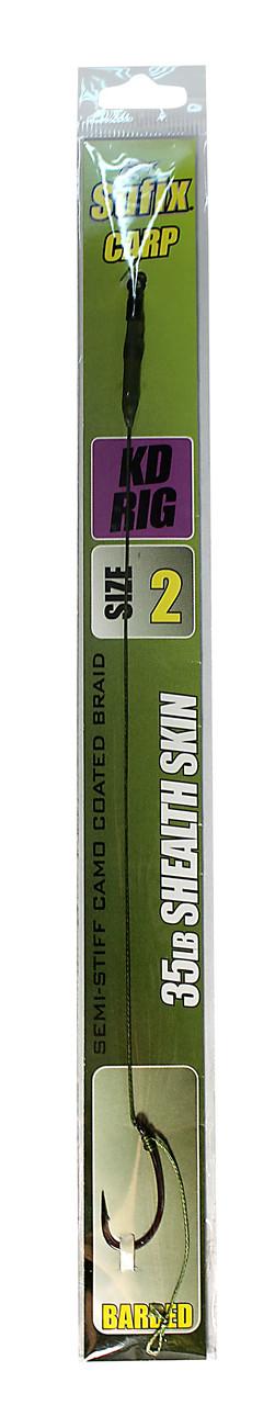 Карповый поводок Sufix KD Rig материал Shealth Skin 35lb крючок №2