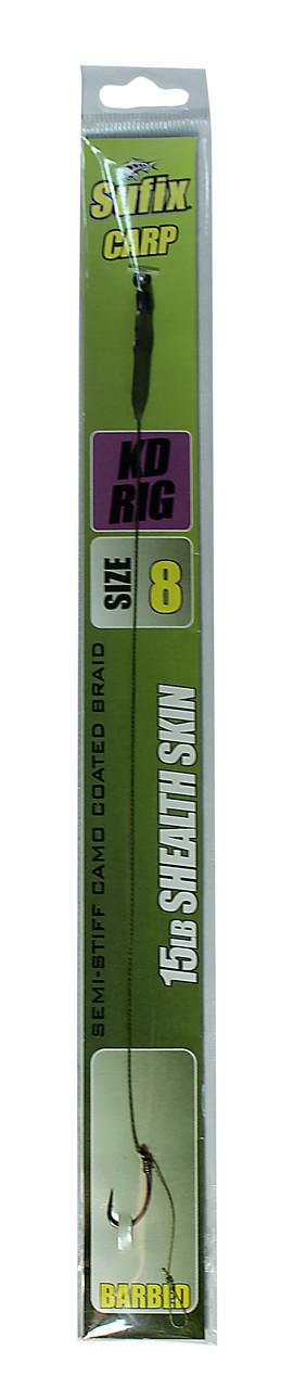 Карповый поводок Sufix KD Rig материал Shealth Skin 15lb крючок №8