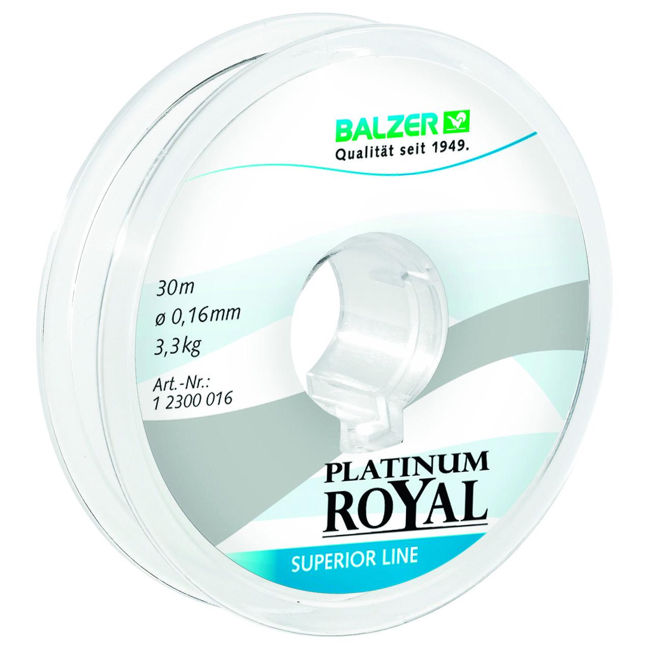 Леска Balzer Platinum Royal NEW  0.25мм 30м