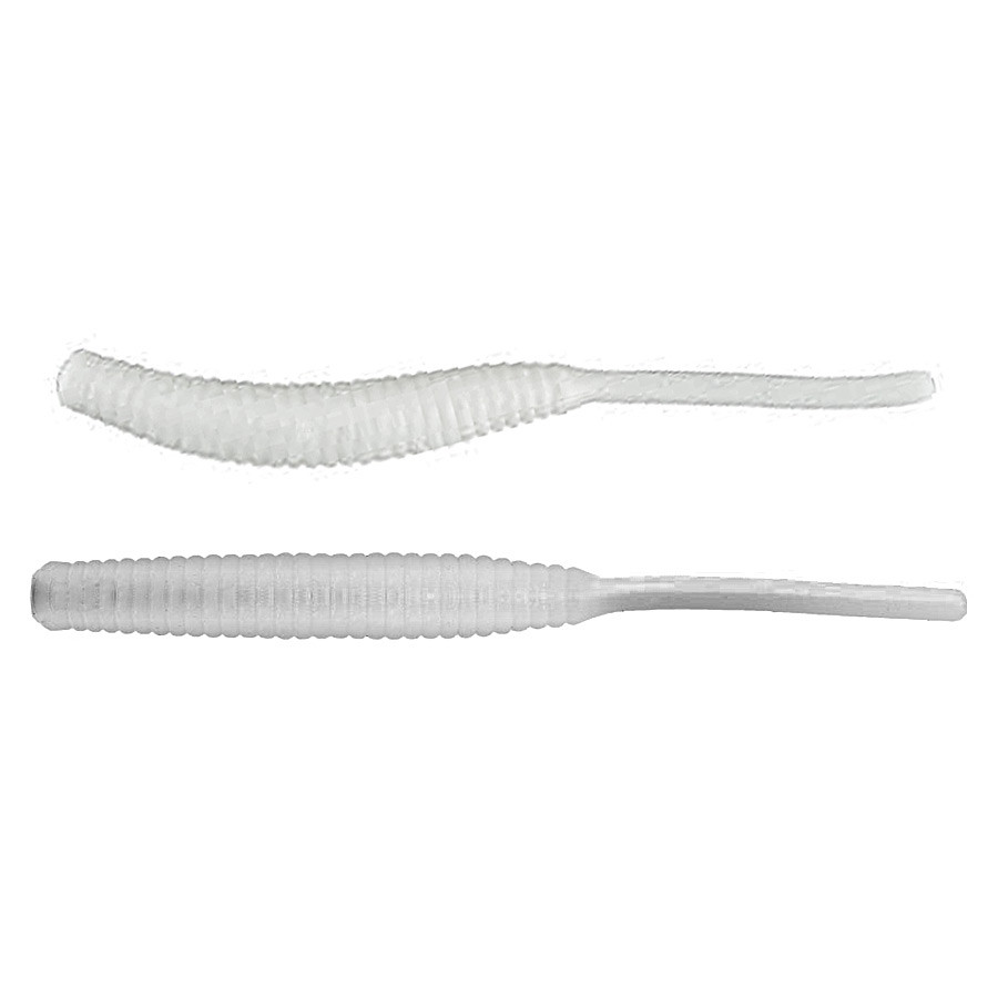 Силикон Nomura Long Tail (съедобный) 50мм 0,5гр. цвет-078 (white) 12шт