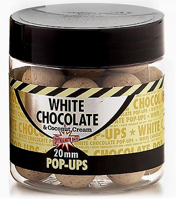 Поп-апы Dynamite Baits  White Chocolate&Coconut Cream Pop-Ups 15mm 100g
