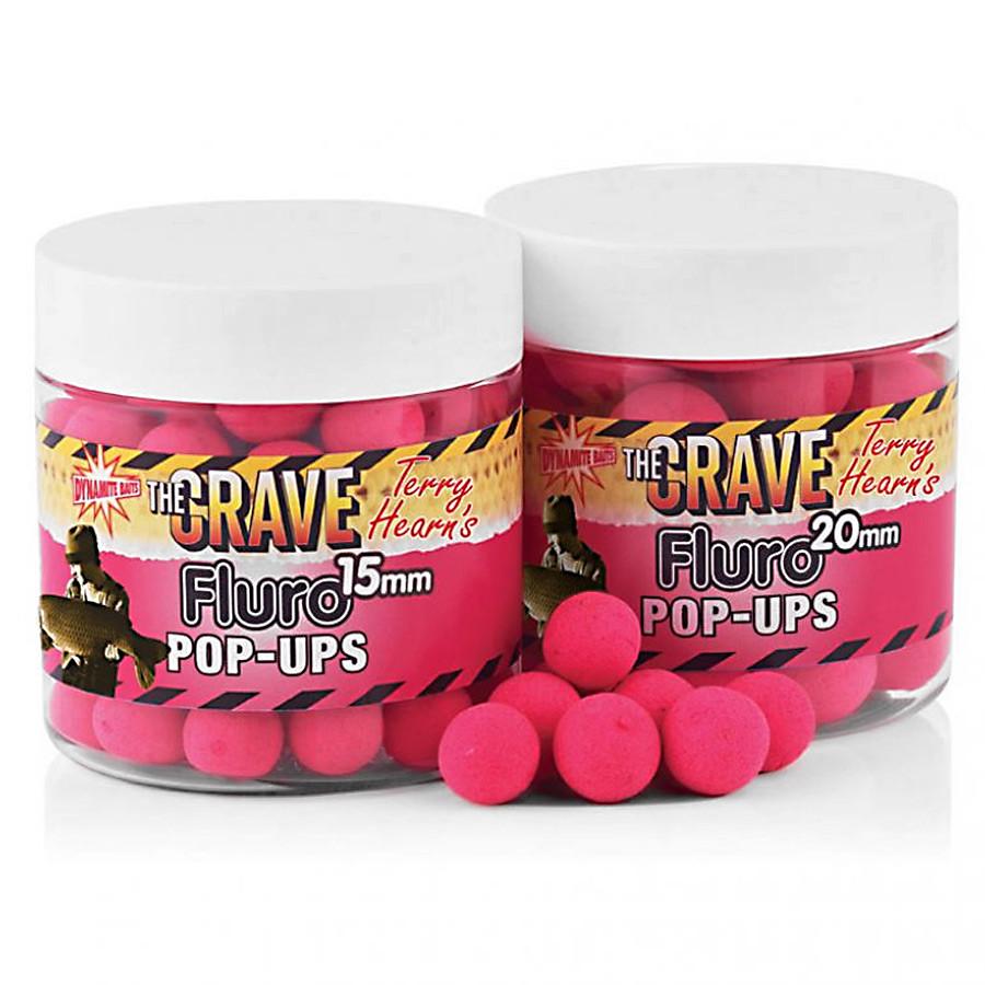 Поп-апы Dynamite Baits The Crave Pink Fluro Pop-Ups 15mm 100g