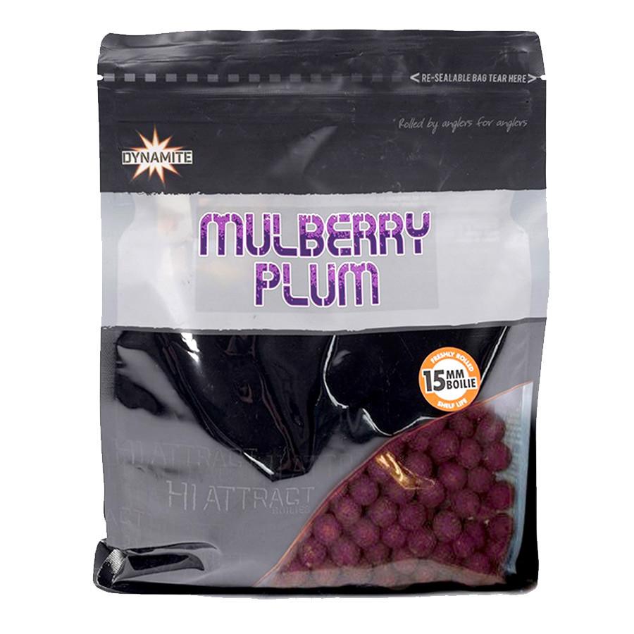 Бойлы тонущие Dynamite Baits Mulberry Plum Hi-Attract Shelf Life 15mm 1kg