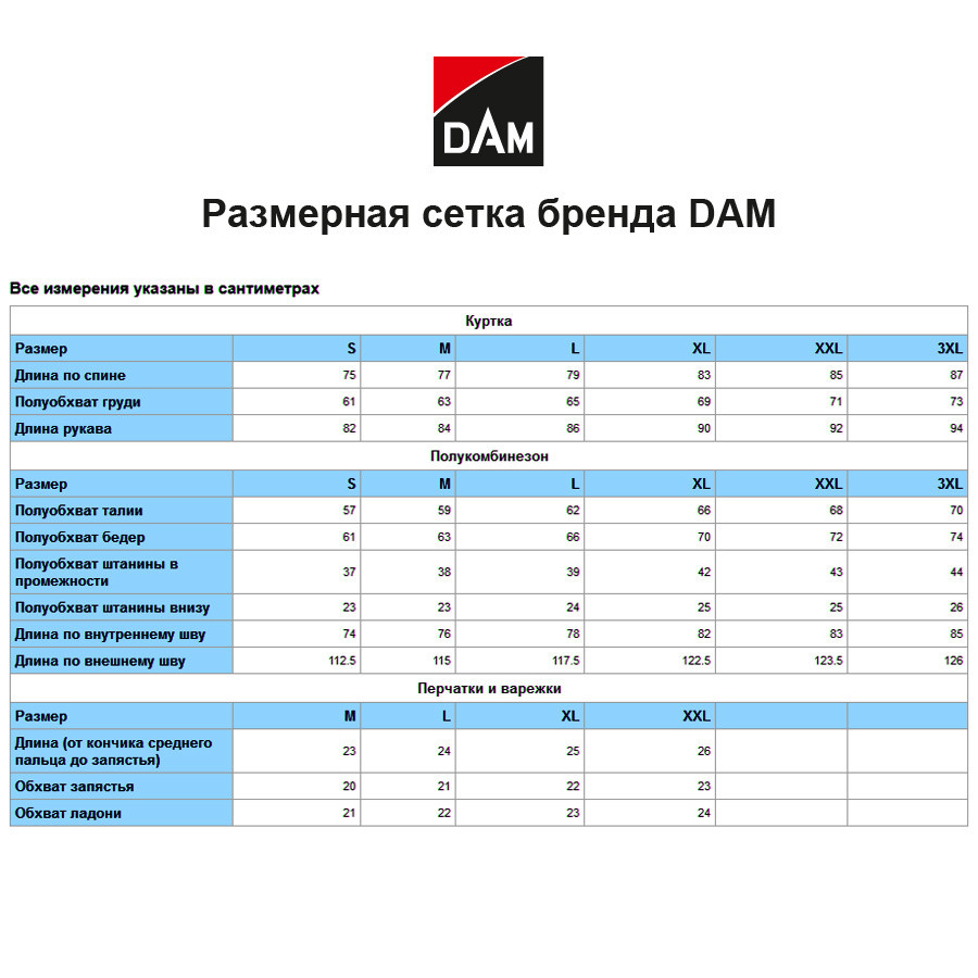 Костюм зимний -10° DAM Winter куртка+полукомбинезон XL