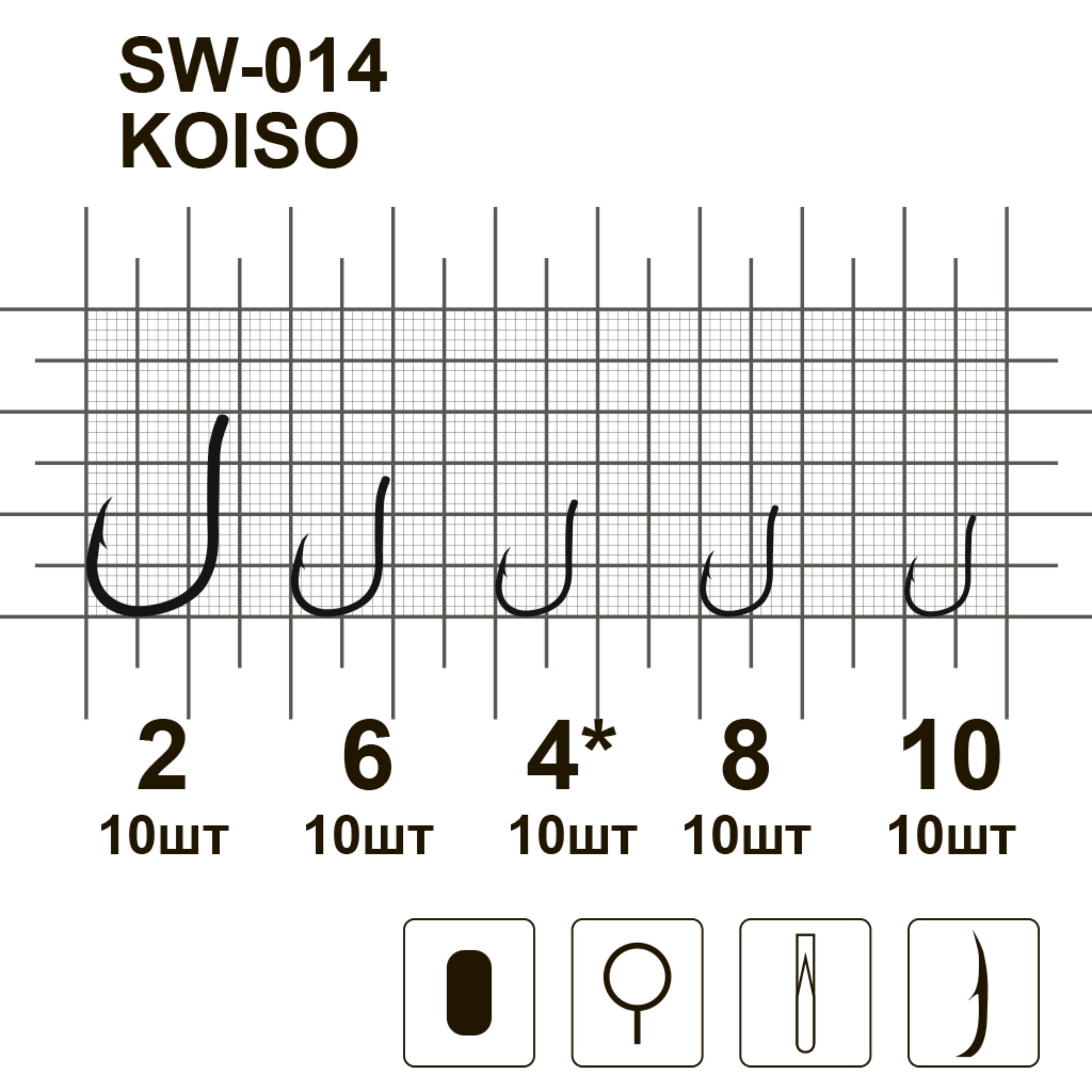 Крючки MiniMax Koiso SW-014 # 6 BLN 10шт. ring