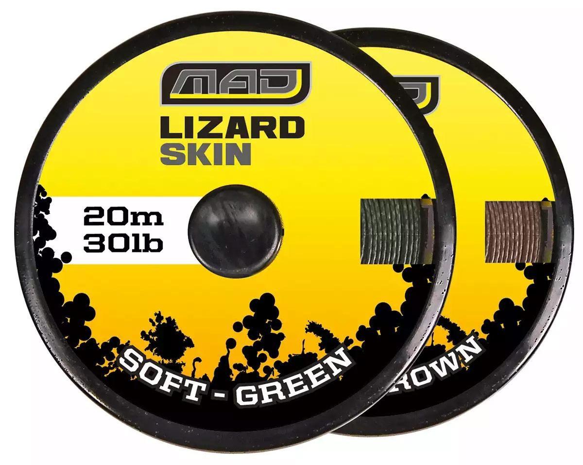 Шнур поводочный DAM MAD Lizard Skin Soft Green 20м 30lb (color-green)